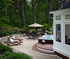 patio and tub deck in massachusetts archadeck outdoor living