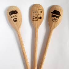 set of 3 wood spoon breaking bad kitchen set custom spoon let u0027s