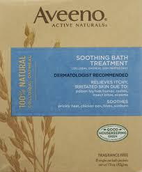aveeno active naturals bath treatment soothing colloidal oatmeal aveeno active naturals bath treatment soothing colloidal oatmeal fragrance free 8 packets 1 5 oz 42 g