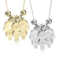 necklace charms images Mother 39 s necklace with boy girls charms jpeg