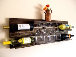 clever ways of adding wine glass racks to your home s decor another rustic wine pallet rack