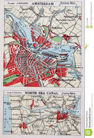 Holland Map Old 1945 Map Of The Environs Of Amsterdam Holland Stock