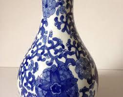 Blue And White Vase Blue And White Vase Etsy