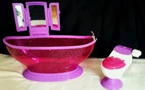 Barbie Glam Bathroom by Barbie Doll Glam Bath To Beauty Tub Toilet Dreamhouse Bathroom