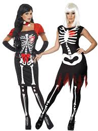 Womens Skeleton Halloween Costume Halloween Ladies Skeleton Costume Glow Dark Women