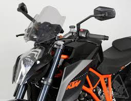 mra double bubble nrm racingscreen windshield for ktm 1290 super