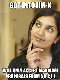 Meme Wedding Proposal - indian mba girl student memes quickmeme