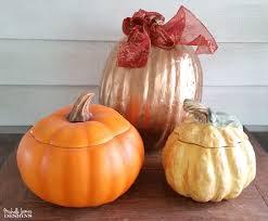 ceramic pumpkins thrift store pumpkins makeover for fall home decor