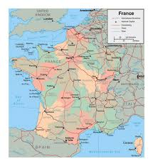France Political Map by Political And Administrative Map Of France With Major Cities