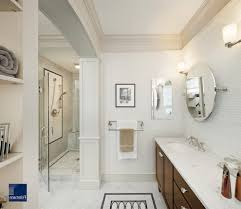 crown molding floor bathroom traditional with shower tile wood