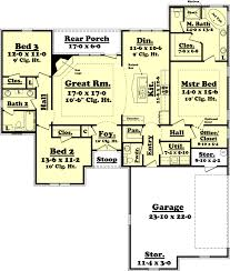 kitchen bedroom house floor plans with garage room plan black