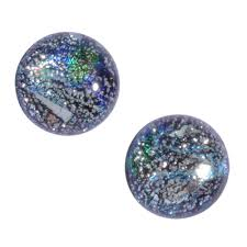 nickel free earrings nickel free galaxy quest post earrings dichroic glass athena