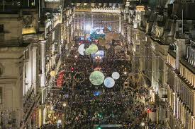 regent street christmas lights darcey bussell switches on festive