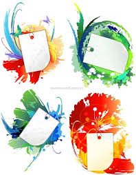 blank cards ink and blank cards vector background free vector in adobe