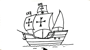 how to draw la santa maría ship of christopher columbus in easy
