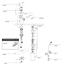moen kitchen faucet assembly moen ca87666w parts list and diagram ereplacementparts