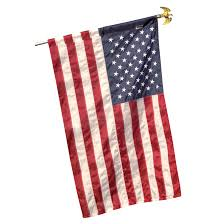 Embroidered American Flag Valley Forge Flag 3 Ft X 5 Ft American Flag And Wooden Pole Set