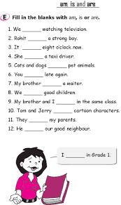 grade 1 grammar lesson 14 verbs am is and are 1 grade 1