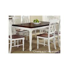 home styles rectangular dining table in oak u0026 white finish the