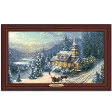amazon com wall decor thomas kinkade sunday evening sleigh ride