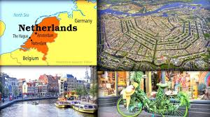 netherlands beaches map the sea the town the from above and more