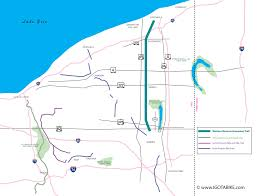 Ohio Erie Canal Map by Western Reserve Greenway Overnight Bicycle Trip In Ashtabula And