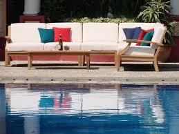 Teak Sectional Patio Furniture - 5 pc teakwood teak wood indoor outdoor patio sectional sofa set