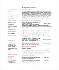 Car Sales Resume Sample by Resume Templates 27 Word Pdf Documents Download