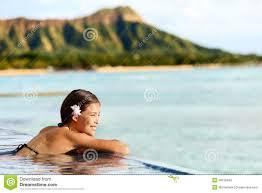 Hawaii Travel Man images Hawaii beach travel woman relaxing at pool resort stock photo jpg