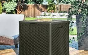 Patio Storage Ottoman Outdoor Patio Storage Deck Box Patio Storage Resin Patio Storage