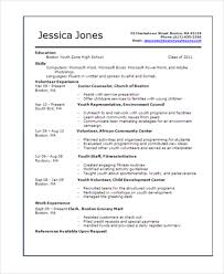 teenage resume examples resume examples for college students with