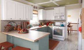 kitchen stunning two tone kitchen cabinet design with marble