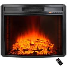 akdy 28 in freestanding electric fireplace insert heater in black