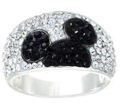 crystal pave rings images Disney pave 39 crystal hidden mickey band ring page 1 001