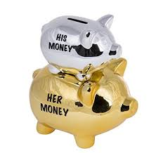 His And Hers Piggy Bank 50th Present Ideas For Him Amazon Co Uk
