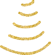 gold tree garlands happy holidays