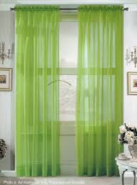 Green Sheer Curtains 2 Solid Lime Green Sheer Curtains Fully Stitched