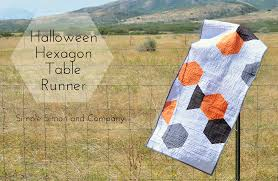 a halloween hexagon table runner simple simon and company