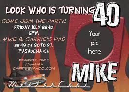 40th birthday invitations free templates free invitations ideas
