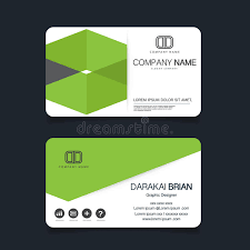 name card modern simple business card template vector