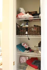 messy closet simple linen closet organization mommy suite