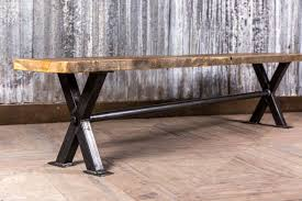 Industrial Style Bench Industrial Style Dining Bench With Steel Base