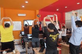 kursus design grafis jakarta stretching peregangan oleh murid dumet school tempat kursus