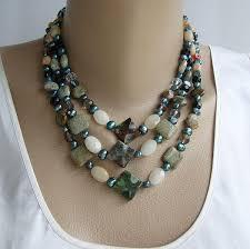 gemstone necklace sets images Agate opi stone jasper blue fwp 3 strand necklace set gemstone jpg