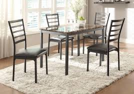 Black Metal Dining Room Chairs Homelegance Flannery Dining Set Black Metal 5038 Dining Set