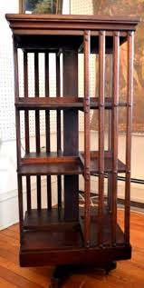 Danner Revolving Bookcase Mahogany Revolving Bookcase Signed John Danner Three Shelves Sold