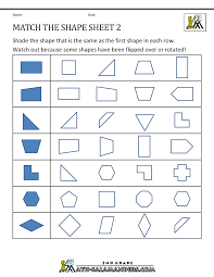 First Grade Math Worksheets Free Transformation Geometry Worksheets 2nd Grade