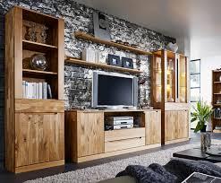 Italienische Wohnzimmer Modern Wohnwand Wildeiche Massiv Italien Recona1 Designermöbel