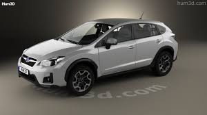 subaru crosstrek black wheels 360 view of subaru xv 2016 3d model hum3d store