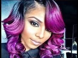 black hairstyles purple purple and gold hairstyles for black women youtube